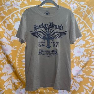 3/$25 LUCKY BRAND Good Luck Original Graphic Tee